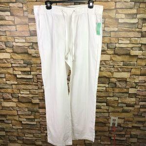 Attention drawstring linen blend pants SZ L NWT